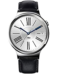 Watch Stainless Steel with Black Suture Leather Strap (U.S. Warranty)