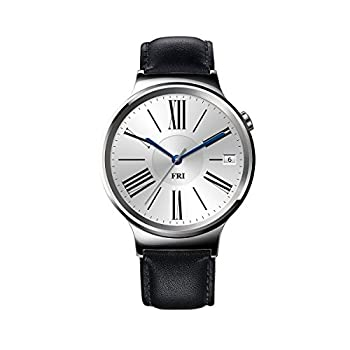 Huawei Watch Stainless Steel With Black Suture Leather Strap (U.s. Warranty) 0
