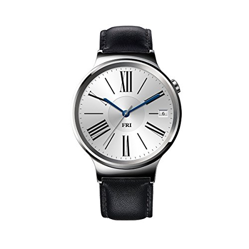 Huawei Watch Stainless Steel with Black Suture Leather Strap (U.S. Warranty) by Huawei
