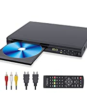 $89 » New 2021 Blu-ray DVD Player, Full HD 1080P DVD Player for TV, with HDMI AV Output Interface and USB Input Interface, Built-in PAL/NTSC System, Including Remote Control