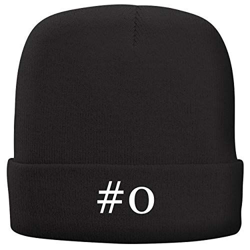 #o - Adult Hashtag Comfortable Fleece Lined Beanie, Black ()
