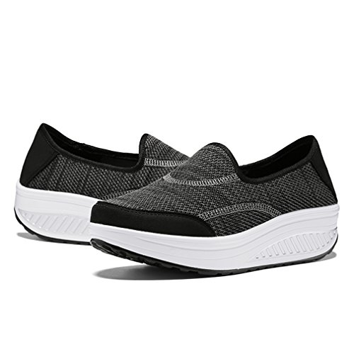 Kagains Women's Slip-On Platform Walking Sneakers Shape Ups Fitness Toning Work Out Shoes