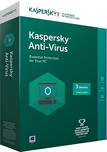 Kaspersky Anti-Virus Latest version – 3 PCs 3 Years