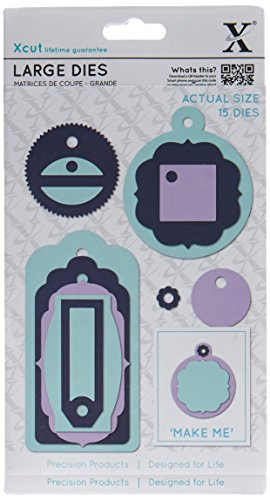 docrafts Xcut Decorative Dies-Everyday Gift Tags, Large