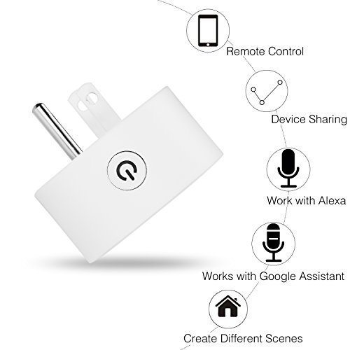Wifi Smart Plug Mini Socket Outlet Power Switch Works With Amazon Alex Google Home Remote Control By App No Hub Required Time Fuction(2 Packs) by mingjin (Image #5)