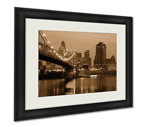 Ashley Framed Prints Cincinnati Ohio, Wall Art Home Decoration, Sepia, 34x40 (frame size), AG6361597 by Ashley Framed Prints