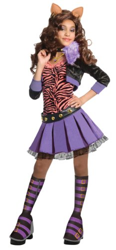 [Monster High Deluxe Clawdeen Wolf Costume - Medium] (Wolf Halloween Costume Child)