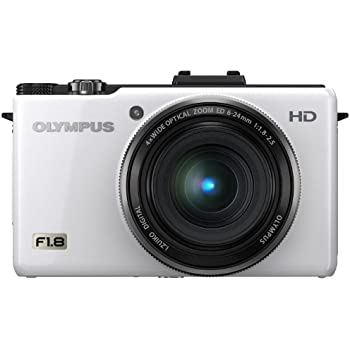 Olympus XZ-1 10 MP Digital Camera with f1.8 Lens and 3-inch OLED Monitor (White) (Old Model)