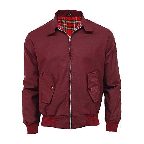 Raiken Bombers Style Pour Rouge Classique Homme Vin Rétro Harrington wwTvZ