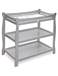 Badger Basket Sleigh Style Baby Changing Table (Gray) BOBEBE Online Baby Store From New York to Miami and Los Angeles