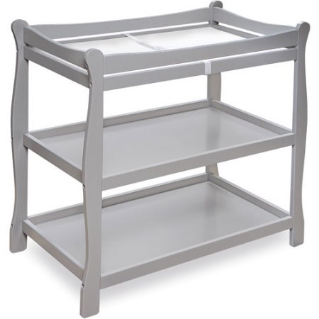 Badger Basket Sleigh Style Baby Changing Table (Gray) by Badger Basket
