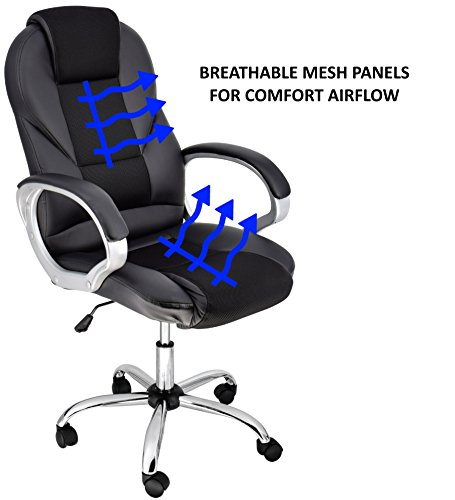 Cool Breathable High Back Executive Chair with fort Airflow Black Rolling Desk Chair for fice Unique - rolling office chair Simple