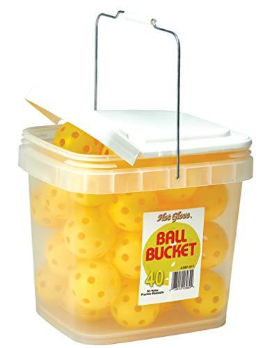 Hot Glove Bucket of Practice Baseballs, Yellow