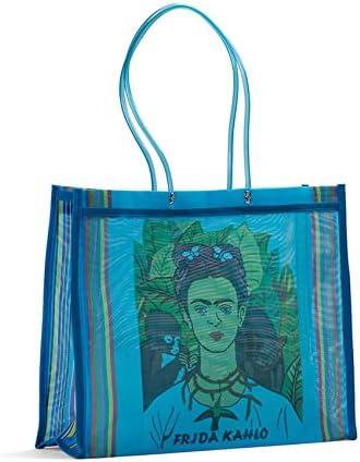Fantastik Sac Cabas Mexicain Frida Kahlo anses Longues Rouge FANMEX