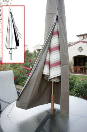 c8205c1af7b09 Amazon.com : Sawan Shop Patio Umbrella Cover fit 6ft to 11ft umbrellas.W/Zipper.  Outdoor Umbrella Cover : Garden & Outdoor