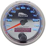 Pro-Cycle 2 5/8 O.D. Electronic Speedometer For Harley-Davidson Custom Use