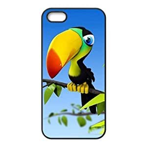 Beautiful parrot iPhone 5,5S Case Black hjbrhga1544
