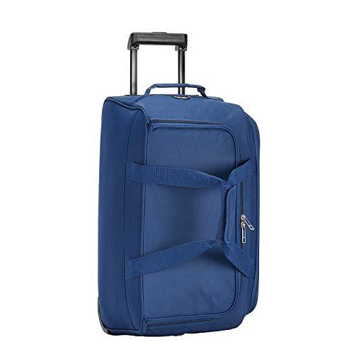 Safari Pret 55 Cms Polyester Navy Blue Cabin 2 Wheels Soft Duffle
