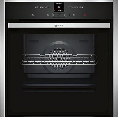 Neff B57CR22N0 - Horno (grande, empotrable, eléctrico, A+, negro, acero inoxidable, panel táctil)