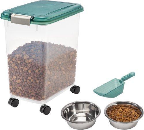 IRIS Airtight Pet Food Storage Starter Kit, Green by IRIS USA
