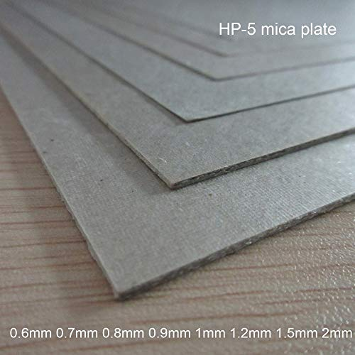 Gimax 0.6mm 0.7mm 0.8mm 0.9mm 1mm 1.2mm 1.5mm 2mm HP-5 micarex Heat-Resisting micanite mica Plate Mica Sheet Thermal Baffle - (Size: 0.9x200x300mm)