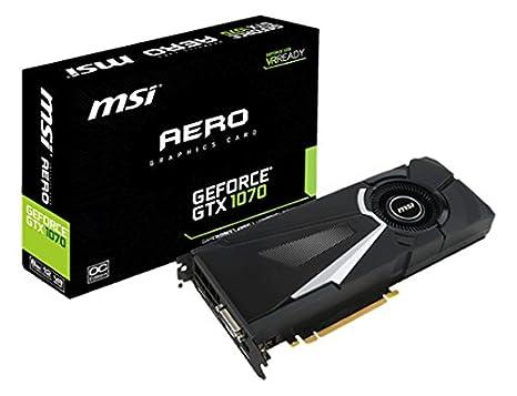 MSI V330-011R - Tarjeta gráfica NVIDIA GeForce GTX 1070 (GDDR5 ...