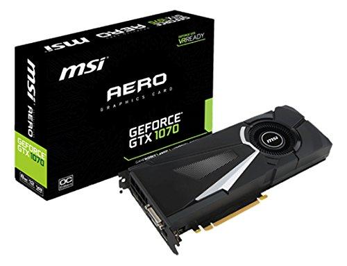 303 opinioni per MSI GeForce GTX 1070 AERO 8G OC Scheda Grafica PCIe 3.0, 8 GB, GDDR5, Frequenza