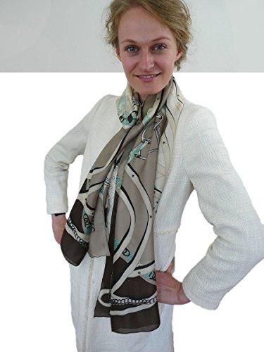 EVAL foulard en soie femme - Devise: Beauté - R1611