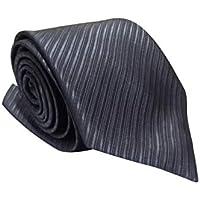Gravata Slim Trabalhada Xadrez Importada Cinza Escuro