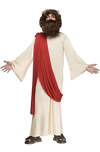 [Fun World 110782L Boy's Complete Jesus Costume - Large - Tan] (Bible Costumes For Kids)