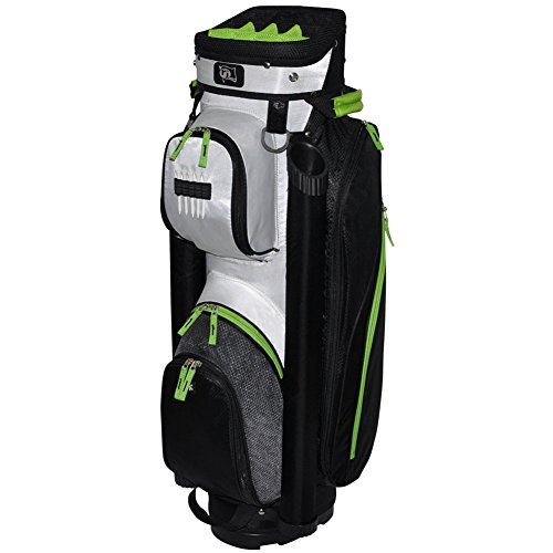 rj-sports-manhattan-cart-bag-black-white-9-inch