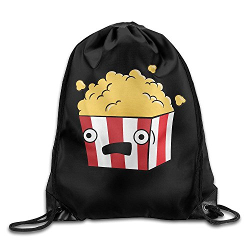 Cartoon Popcorn Drawstring Pack Beam Mouth School Travel Backpack Rucksack Shoulder Bags For Men / Women from 05_&_NG
