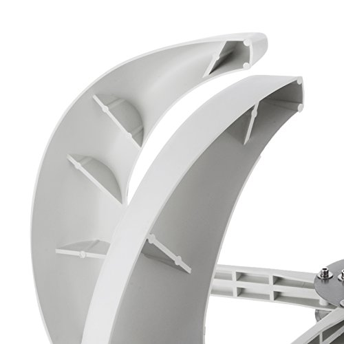 Happybuy Wind Turbine 400W DC 12V Wind Turbine Generator Kit 5 Blades Vertical Wind Power Turbine Generato White Lantern Style with Charge Controller for Power Supplementation by Happybuy (Image #4)