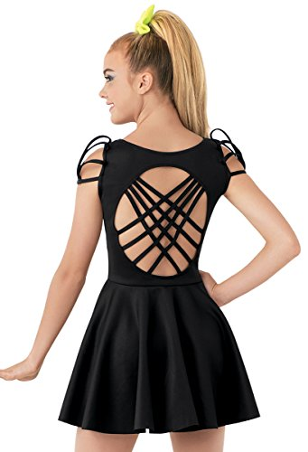 [Balera Skater Dress Strappy Back with Built-In Brief] (Cute Dance Recital Costumes)