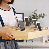 Lzttyee Wooden 24-Grid Cell Phones Storage Box