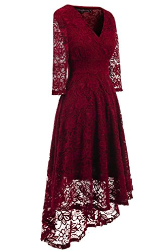 EvoLand-Womens-Lace-34-Sleeve-Cocktail-Evening-Party-Dress