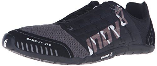 Inov-8 Bare-XF™ 210 Unisex Cross-Training Shoe, Black/Grey/White, 5.5 M US