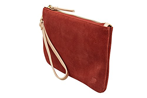 HButler 4000mAh Mighty Purse Suede Wristlet for Apple/Android Phones - Rust by HButler (Image #2)