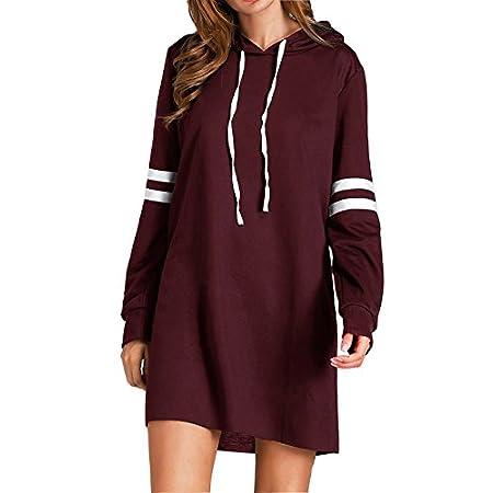 Flying Rabbit Women's Hoodies Sweatshirt Pullover Sweaters Long Sleeve Pullover Jumper Long Tops Pullover Dress Sweatshirt 413WtxrP6tL