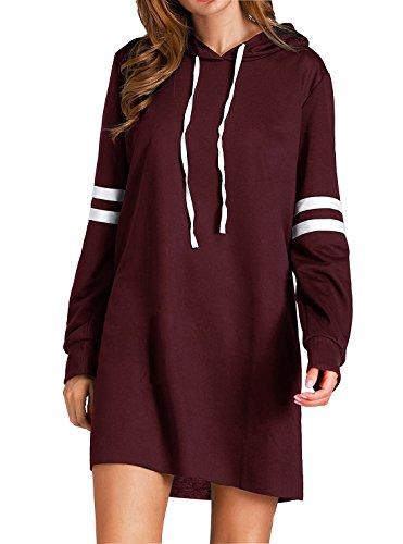 Flying Rabbit Women's Hoodies Sweatshirt Pullover Sweaters Long Sleeve Pullover Jumper Long Tops Pullover Dress