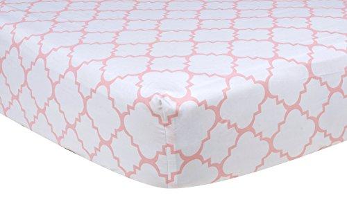 Trend Lab Pink Quatrefoil Sheet