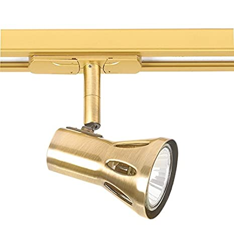 Track Light Finish Antique Brass Amazoncouk Lighting