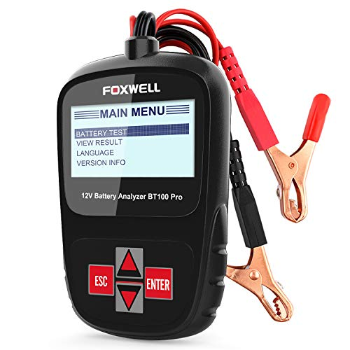 FOXWELL BT100 Pro Battery Analyzer 12V Automotive Battery Load Tester Health/Faults Detector