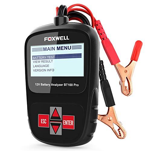 FOXWELL BT100 Pro Battery Analyzer 12V Automotive Battery Load Tester Health/Faults -