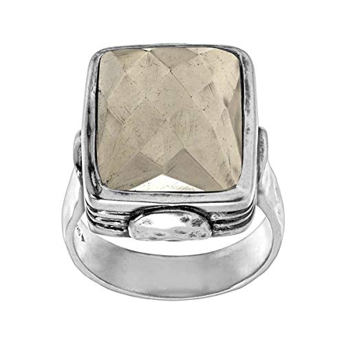 Silpada 'Amarillo' Pyrite and Sterling Silver Ring, Size 5