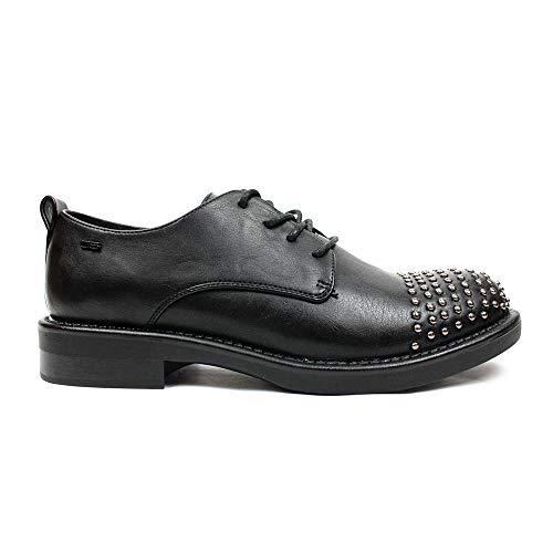 Ville p Chaussures À Pour 06 Femme Oal0058 Lacets Milano Noir 1 De qwxtYB