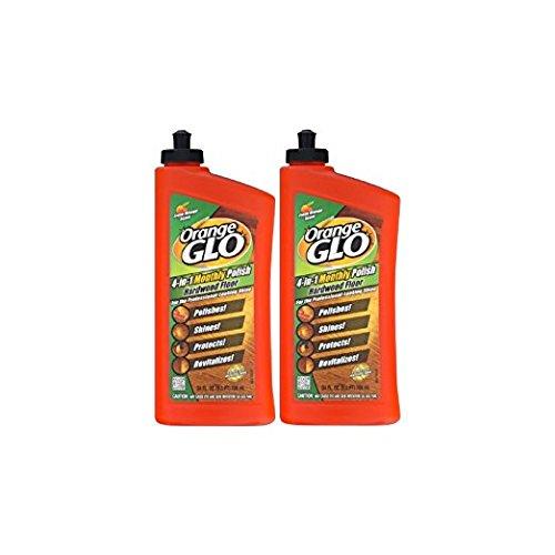 4in 1 Floor (Orange Glo 4-in-1 Monthly Polish Hardwood Floor Fresh Orange Scent, 24.0 FL OZ - Pack of 2)