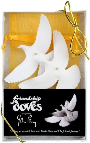 Set of 2 Turtle Dove Ornaments - As Seen in Home Alone 2