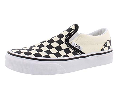 Vans Kids Classic Slip-On (Little Big Kid), ((Checkerboard) Black/White 2.5 -