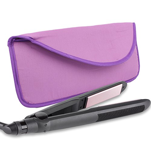 Portable Hot Flat Iron Hair Styling Tools Travel Case by bogo Brands (Purple)